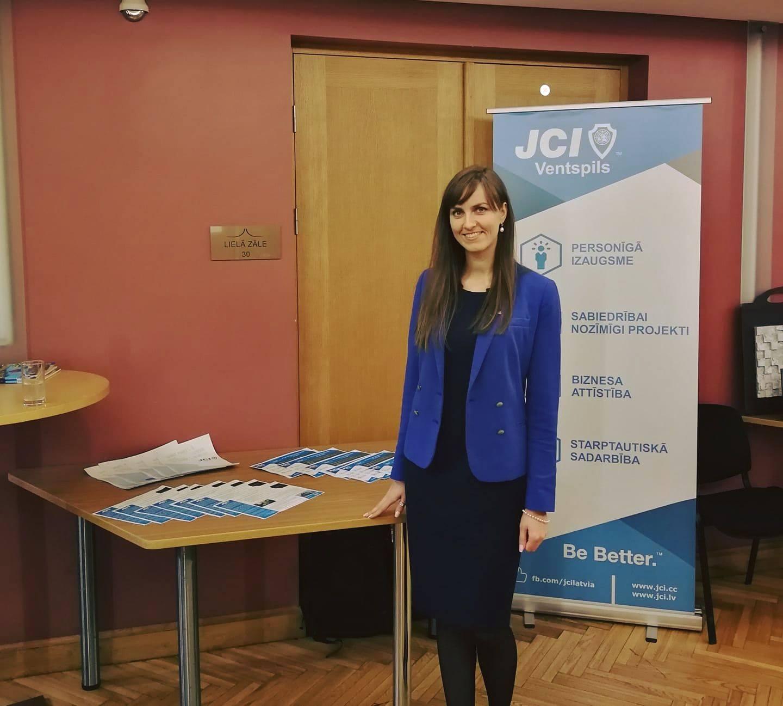 Vika Dubanevica volunteers for JCI